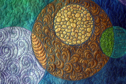 Detail from Circle Quilt