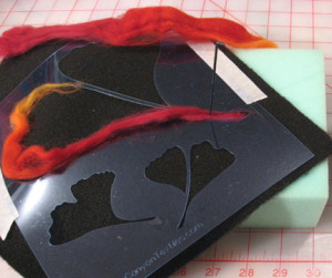 Needle Felting with Stencils ~ Playing with Stencils 3