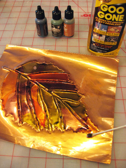 Alcohol Ink On Copper Playing With Stencils 6 Cedar