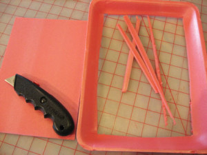 Foam Tray Printing ~ Playing with Stencils 9
