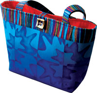 tote bag stenciled with Primrose imeages