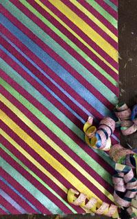 Paintstik Stripes on Suede