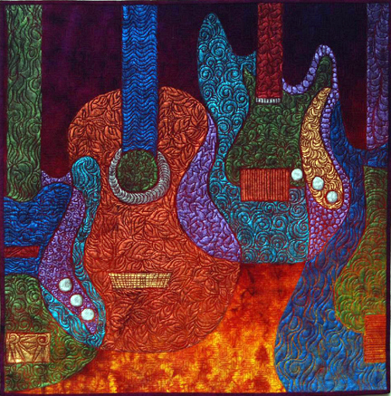 Guitar Quilt by Sue Kelly