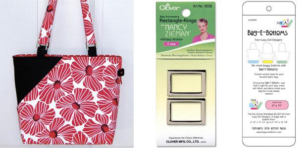 Candice pattern, D-Rings & Bag-E-Bottom