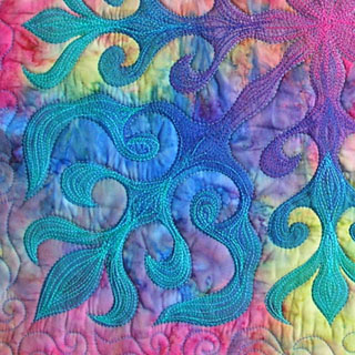 Detail of Water Lily stitching
