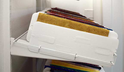 Shoe racks for down-slant, organizers notched for end pieces