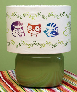 Simple Stenciled Lampshade