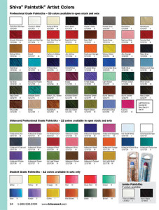 My Gift For You – A Paintstik Color Chart