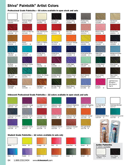 My Gift For You A Paintstik Color Chart