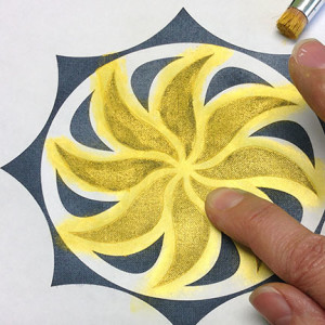 Extreme Stenciling with Paintstik Colors