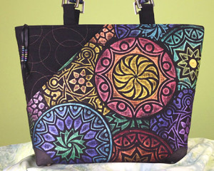 From Kaleidoscope Fabric To Beautiful Bag