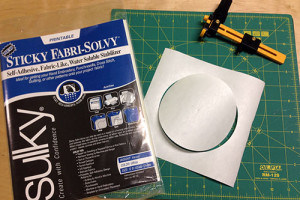 Sticky Fabri-Solvy Makes a Great Mask!