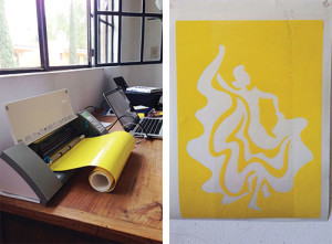 Folklorio Dancer 1: Cutting and Transferring a Vinyl Stencil