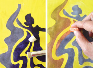 Folklorio Dancer 2: Add Color with Extreme Stenciling