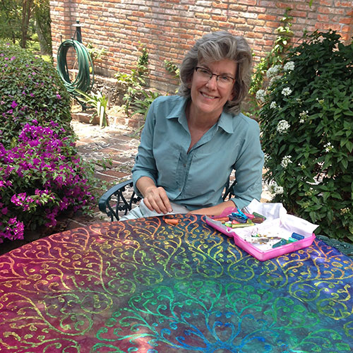 QQ-table-rubbings5-ShellyStokes-painting-fabric