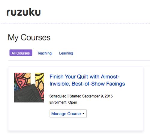 Ruzuku-home-page