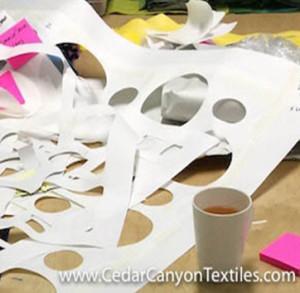 Studio Storage Solution for Freezer Paper Masks