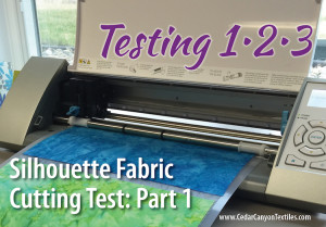 Silhouette Fabric Test – Part 1