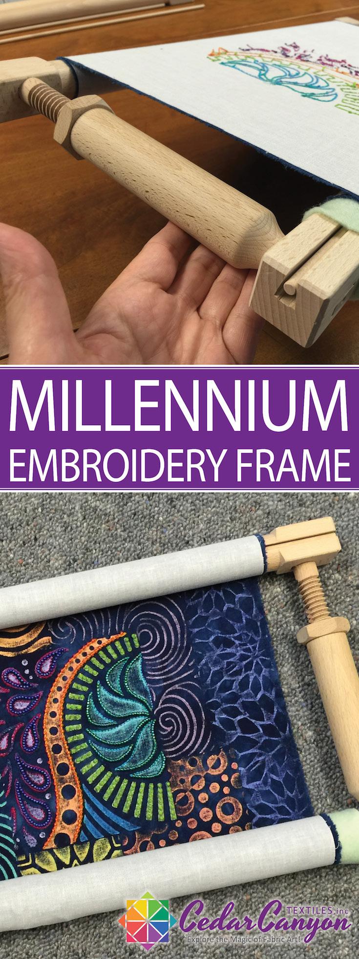 Millennium Embroidery Frame Review - Cedar Canyon Textiles