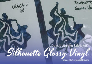 Silhouette Glossy Vinyl for Fabric Art