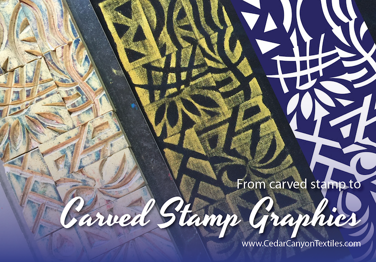 A Bit Of Play With Carved Stamp Graphics Cedar Canyon Textiles