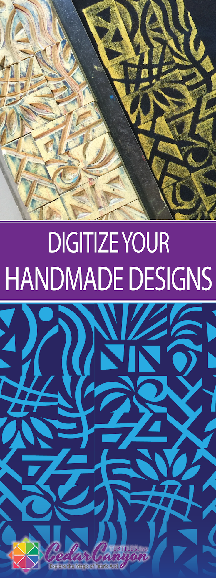 "From a hand-carved stamp to Carved Stamp Graphics: A straightforward strategy for ""importing"" handmade designs for use with Silhouette Cameo cutters."