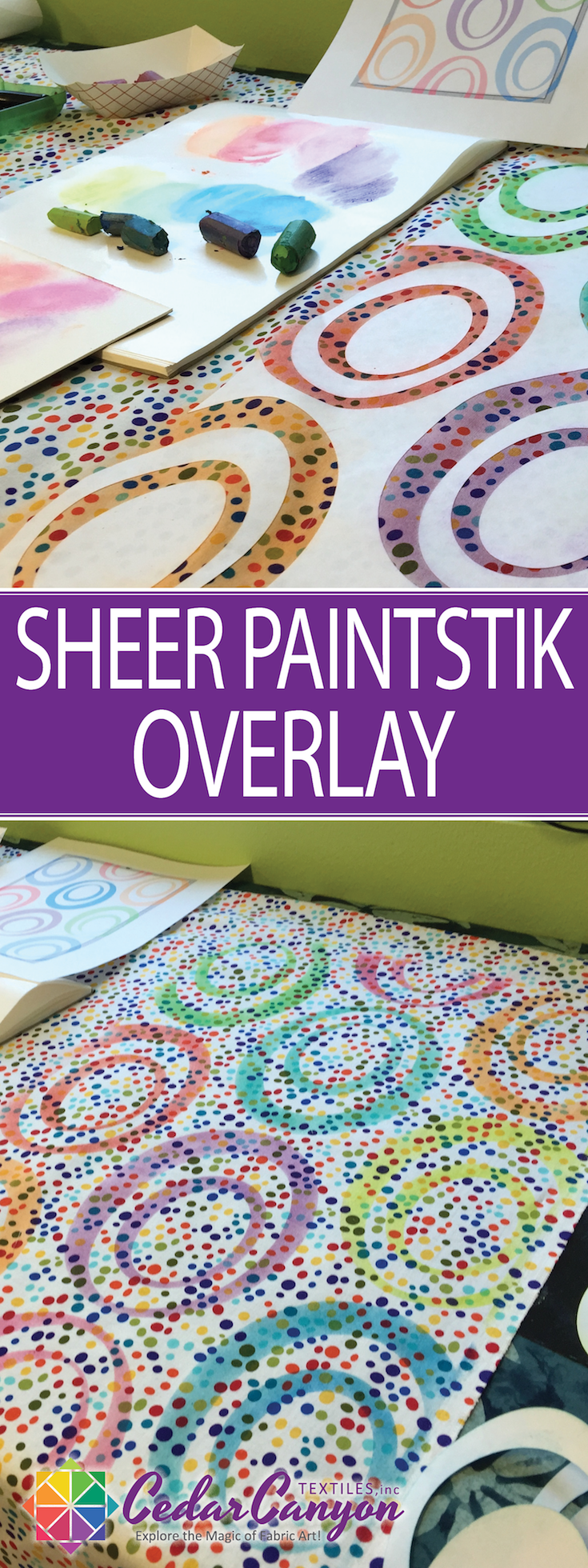 Got some fabric that isn't quite right? Grab your Paintstiks and fix it with a Sheer Paintstik Overlay.