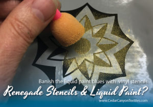 Renegade Stenciling with Liquid Paints