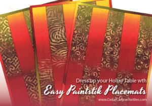 Easy Paintstik Placemats