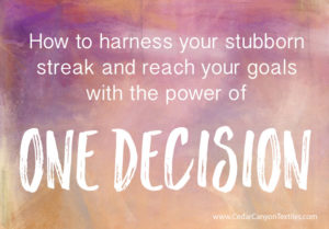 The Magic of One Decision