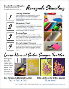 Downloadable guide for Renegade Stenciling