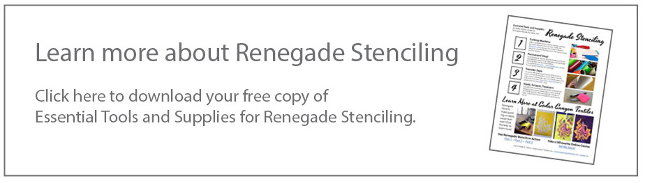 Click here to download your free Essential Tools and Supplies for Renegade Stenciling Guide