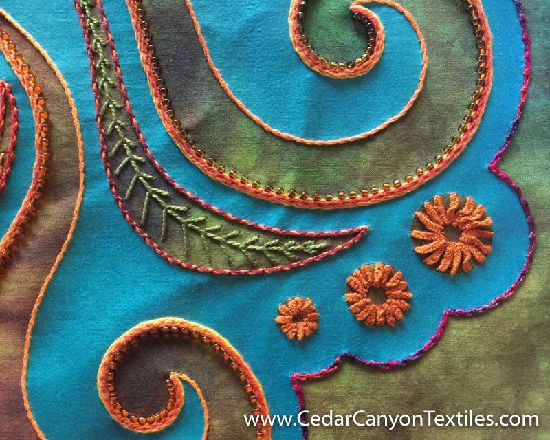 StarFlower-5 cast-on stitch flowers