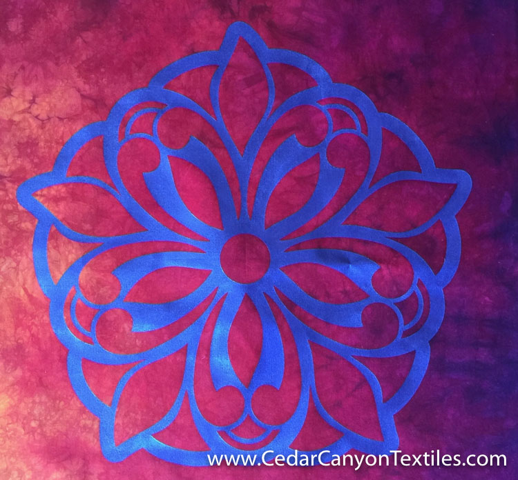 StarFlower2-painted fabric