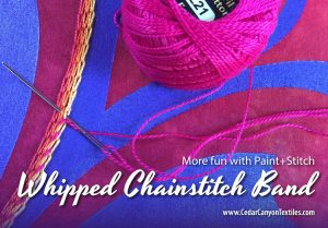 Whipped Chainstitch Bands