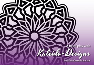 A Bit of Play with Kaleido-Designs
