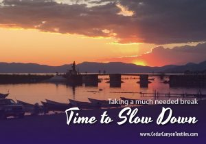 Slow down to the speed of life