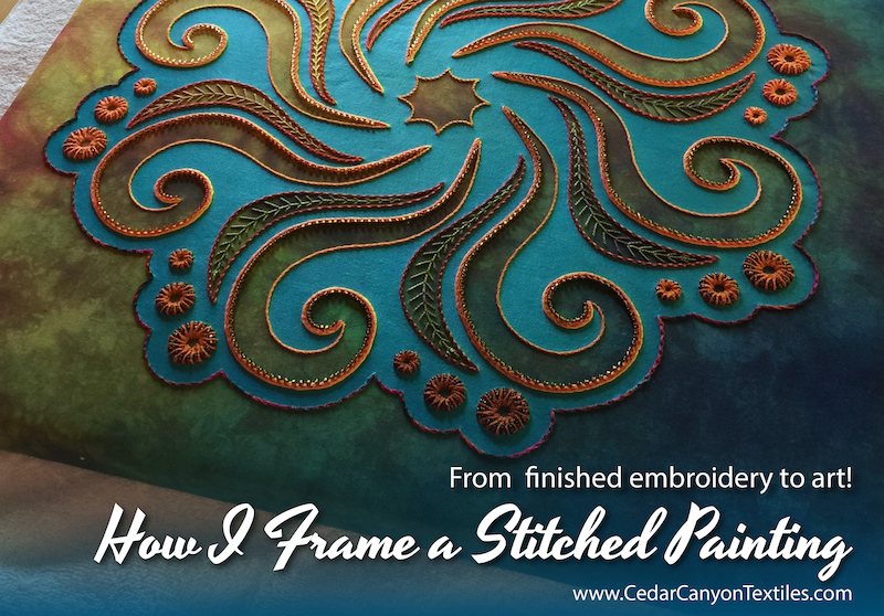 How I frame a Stitched Painting