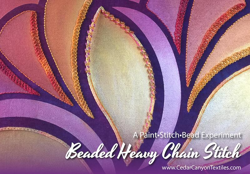 8 Ways to make a Beaded Heavy Chain Stitch