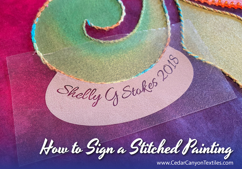 How to Sign a Stitched Painting