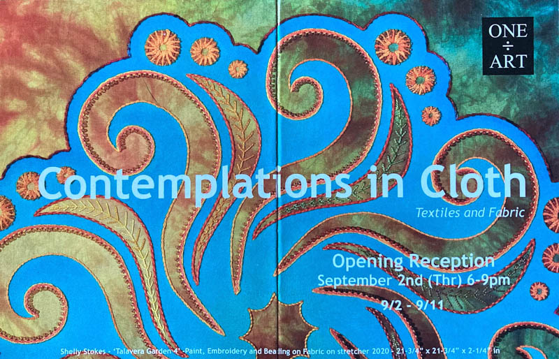 A First Gallery Exhibit: Contemplations in Cloth