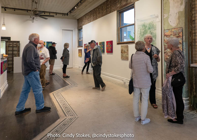 Opening reception for Contemplations in Cloth Exhibit