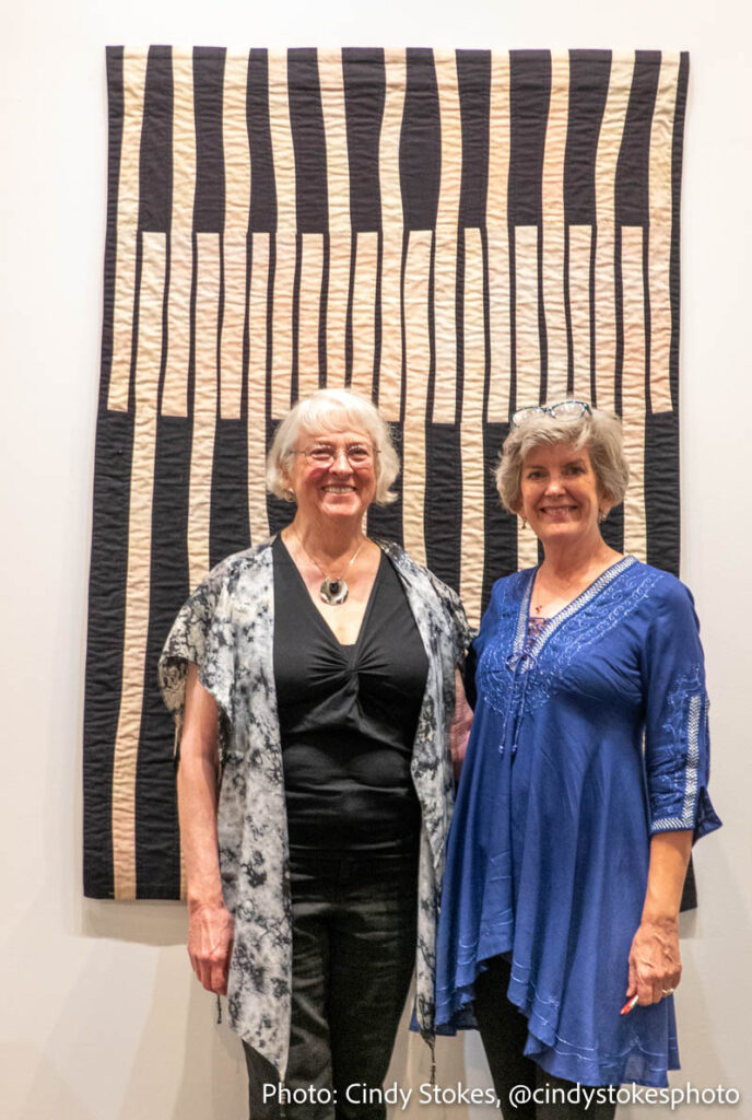 Carolyn Abbott and Shelly Stokes at Contemplations in Cloth exhibit